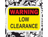 Warning Low Clearance