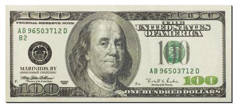 фото 100 долларов купюра